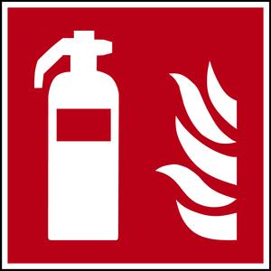 Schild Feuerloescher